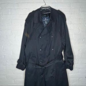 Vintage London Fog TrenchCoat/Coat Blue Sz 42 Long
